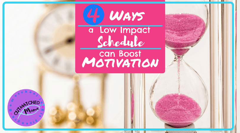 4 Ways a Low Impact Schedule Can Boost Motivation