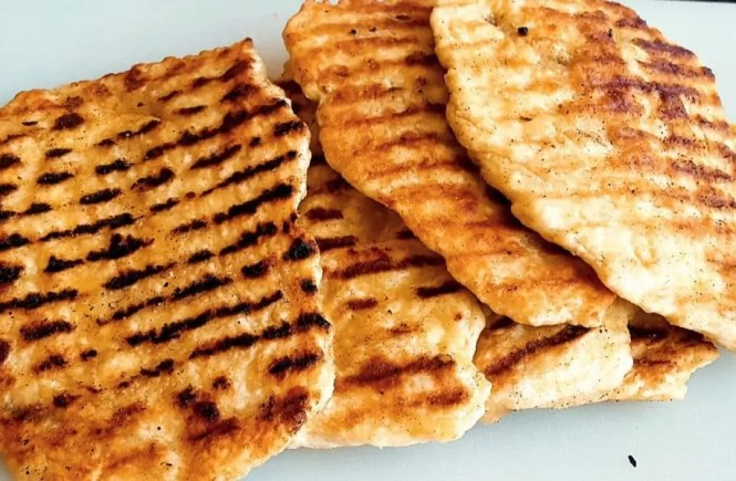 Platbrood uit de grillpan