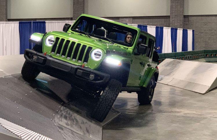 Green Jeep Wrangler Rubicon