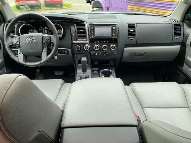 2019 Toyota Sequoia gray interior front row