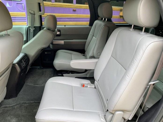 2019 Toyota Sequoia gray interior second row
