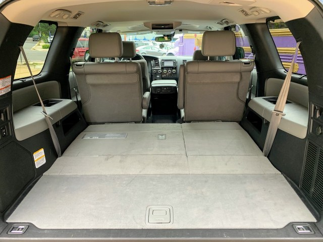 2019 Toyota Sequoia gray interior third row stowed