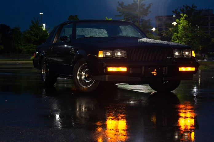 1987 Buick Grand National front at night