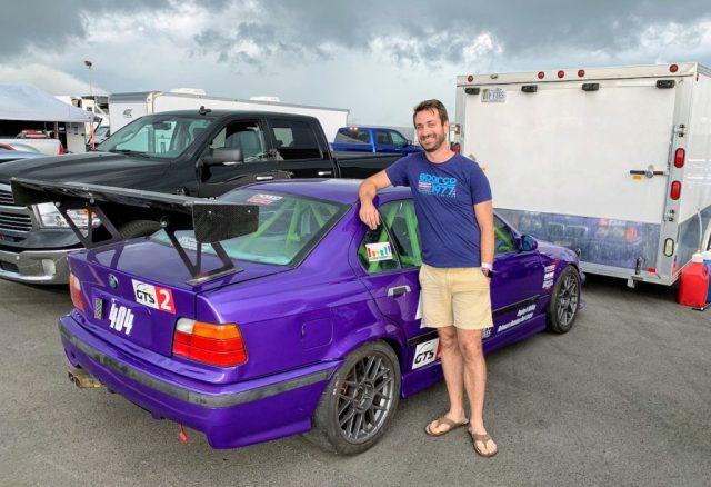 Pitt Race purple E36 M3 Jake Thiewes
