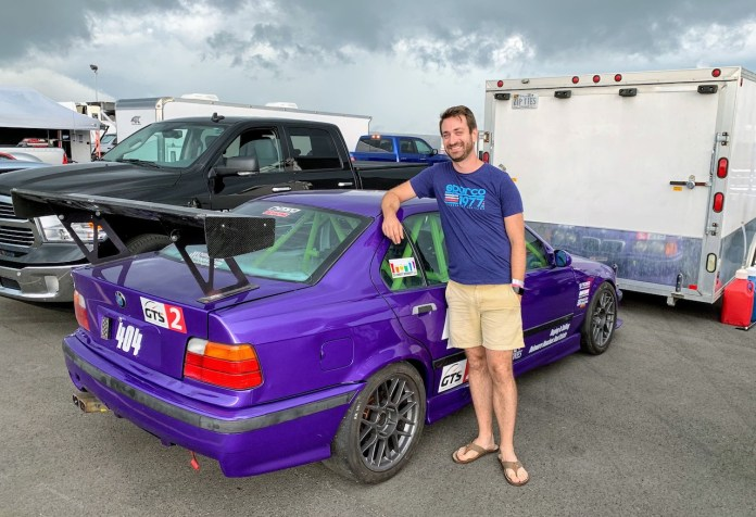 Pitt Race purple E36 M3 Jake Thiewes