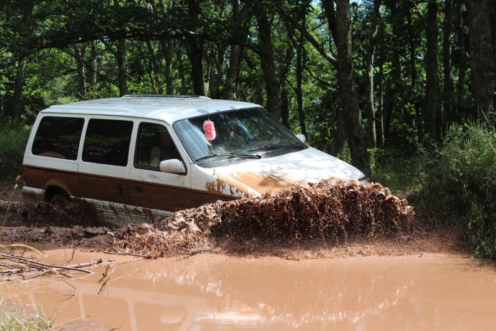 Chrysler Town & Country AWD through mud