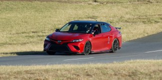 Toyota Camry TRD racetrack
