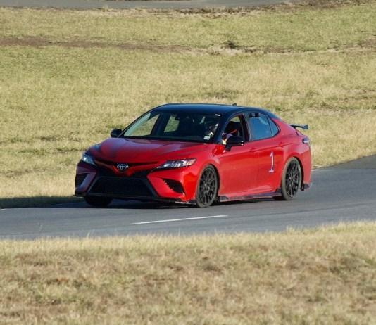 Toyota Camry TRD racetrack