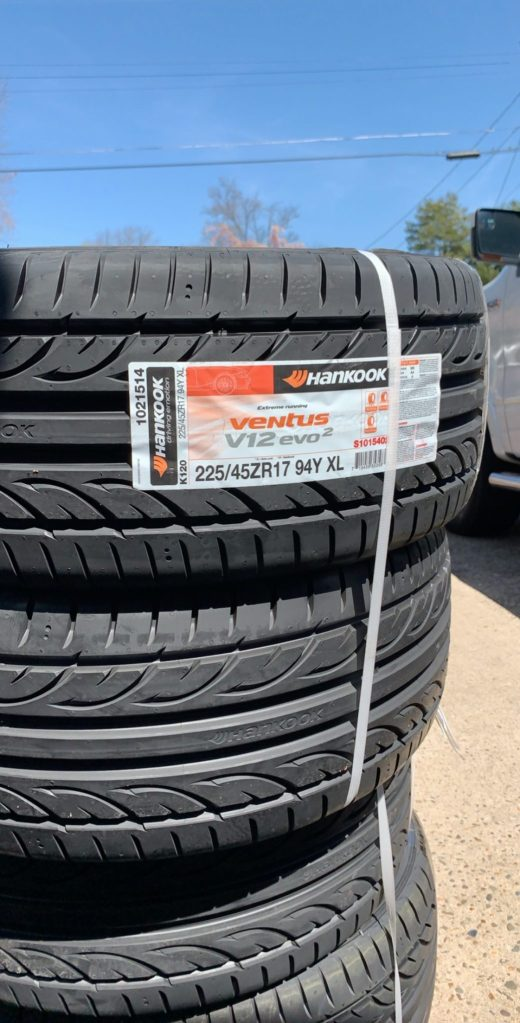 Hankook Ventus V120 Evo new tires