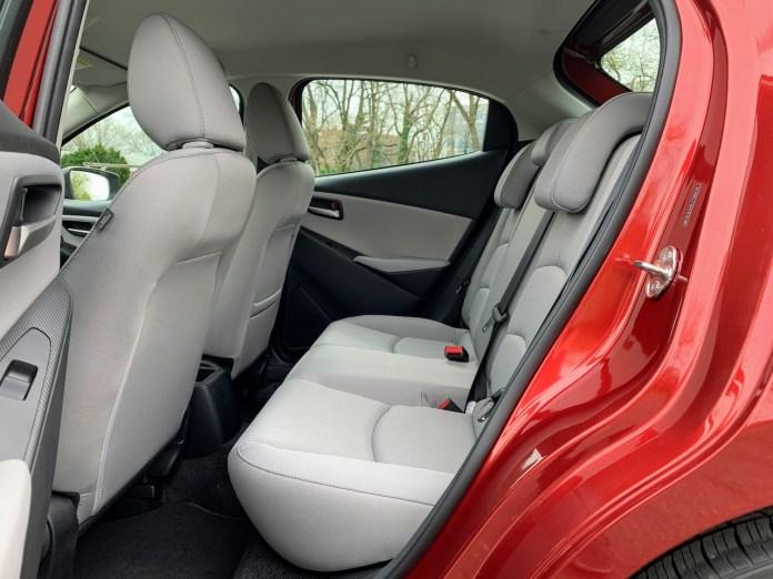 2020 Toyota Yaris hatchback backseat