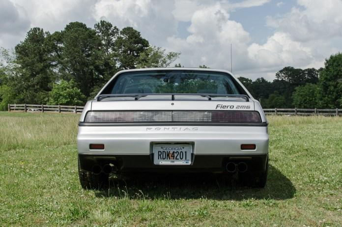 1986 Pontiac Fiero SE V6 rear