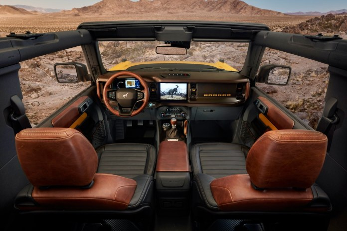 2021 Ford Bronco interior brown seats
