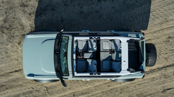 2021 Ford Bronco removable hardtop
