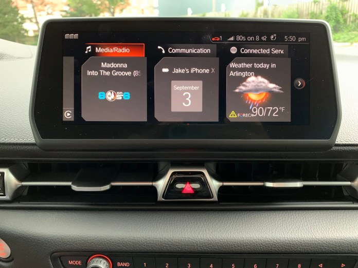 2020 Toyota Supra iDrive