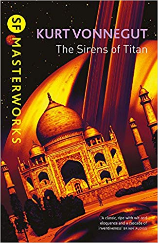 The cover of science fiction book The Sirens of Titan by Kurt Vonnegut.