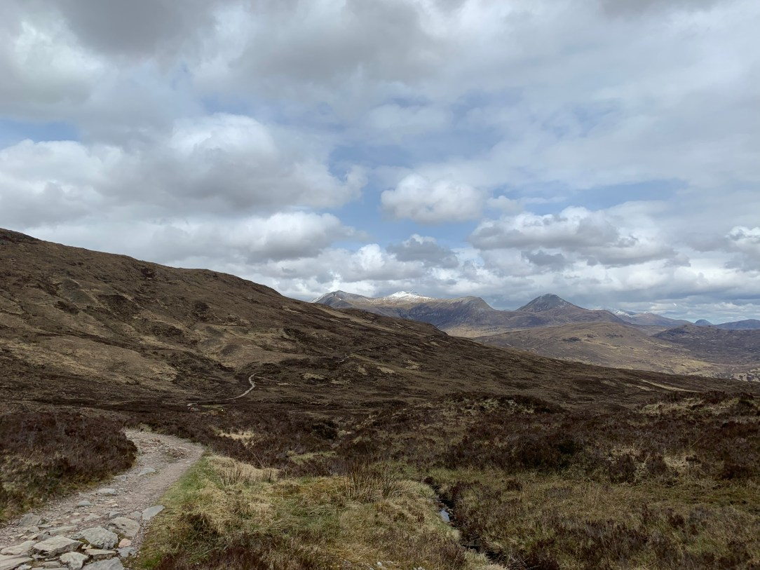 A view from the long descent down the Devil's Staircase
