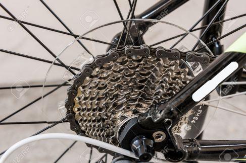 bicycle gears mechanism on the rear wheel