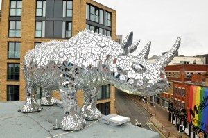 'Rhinestone Rhino' unveiled in Gay Village