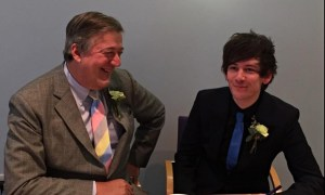 Stephen Fry and Partner Elliot Spencer Marry