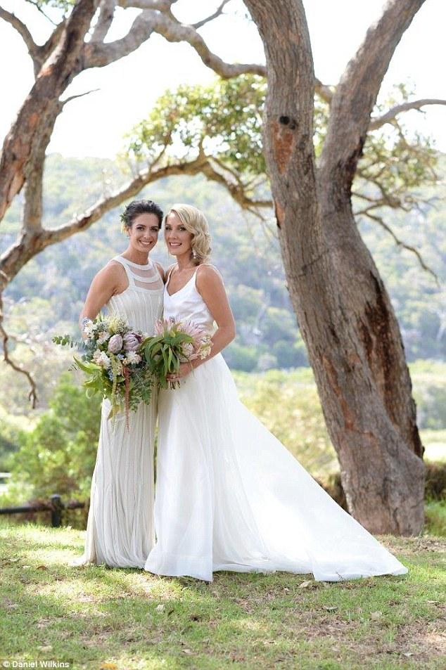 Ashleigh Brazill weds girlfriend
