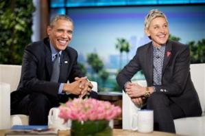 "President Obama and  Ellen DeGeneres ""Changing Hearts and Minds"""
