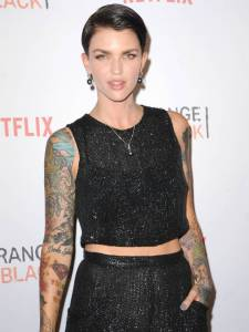Ruby Rose and Elton John campaign for gender equality