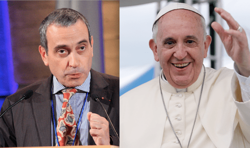 Laurent Stefanini and Pope Francis