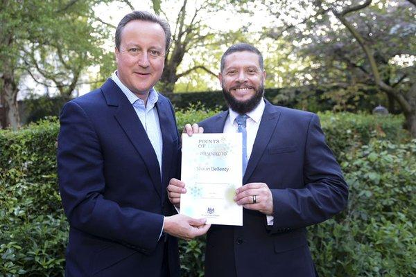 Shaun Dellenty Points of Light award
