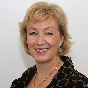 Andrea Leadsom is 'not happy' about the gay marriage law because of 'hurt caused to many Christians'.
