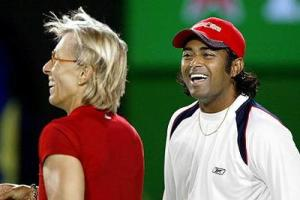 Martina and Leander Paes