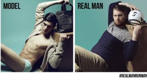 Men's clothing brand causes uproar with #RealManRunway campaign