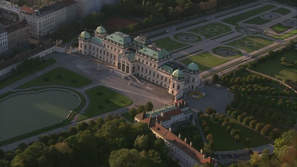Baroque Belvedere Palace Vienna