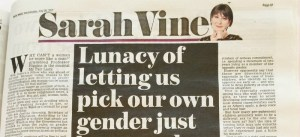 Daily Mail columnist Sarah Vine attacks gender recognition reforms and mocks LGBT survey
