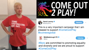 Millions reached by #ComeOut2Play campaign in support of gay footballers