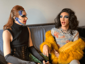 Fab video! Drag legends Tequila and Velma Von Mess play The Game of Queens!