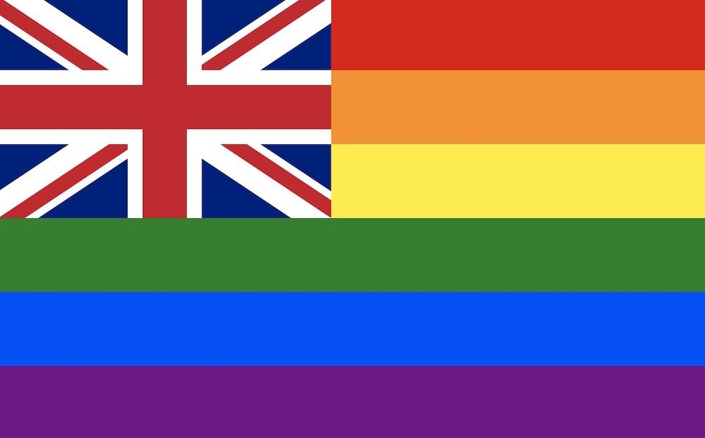 UK flag in rainbow