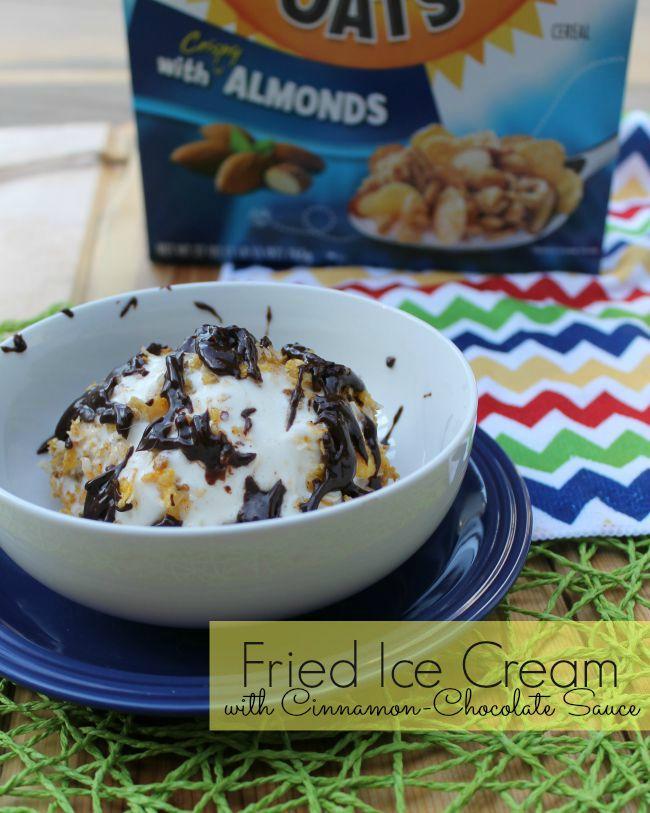 Fried Ice Cream with Cinnamon-Chocolate Sauce Recipe
