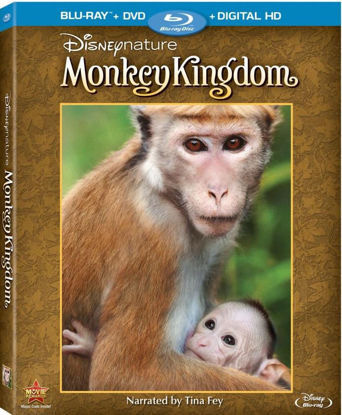 Disneynature Monkey Kingdom on DigitalHD, DMA, & Blu-ray Combo Pack