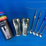 Stainless Steel Retro Cups & Strawspoons Make For Awesome Root-beer Floats