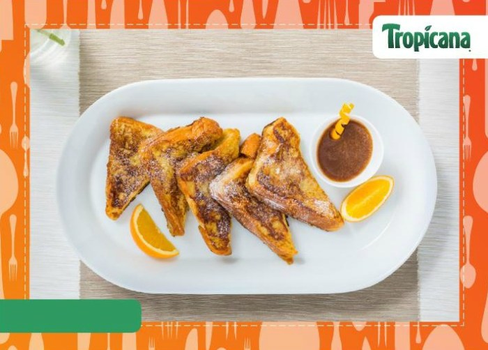 French Toast with Orange, Cinnamon & Vanilla Dip