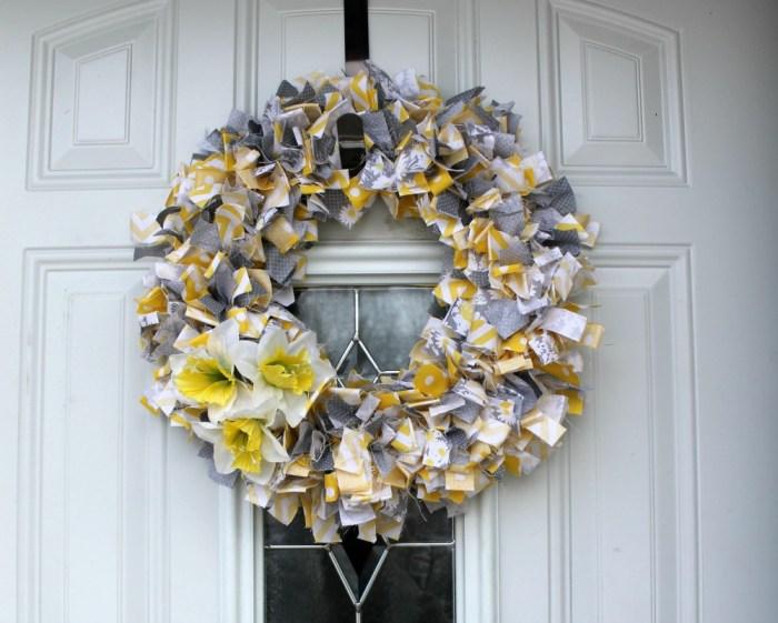 Sunshine Fabric Wreath
