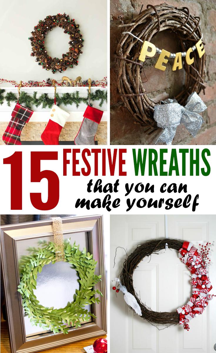 15 Festive DIY Wreaths for the Holidays