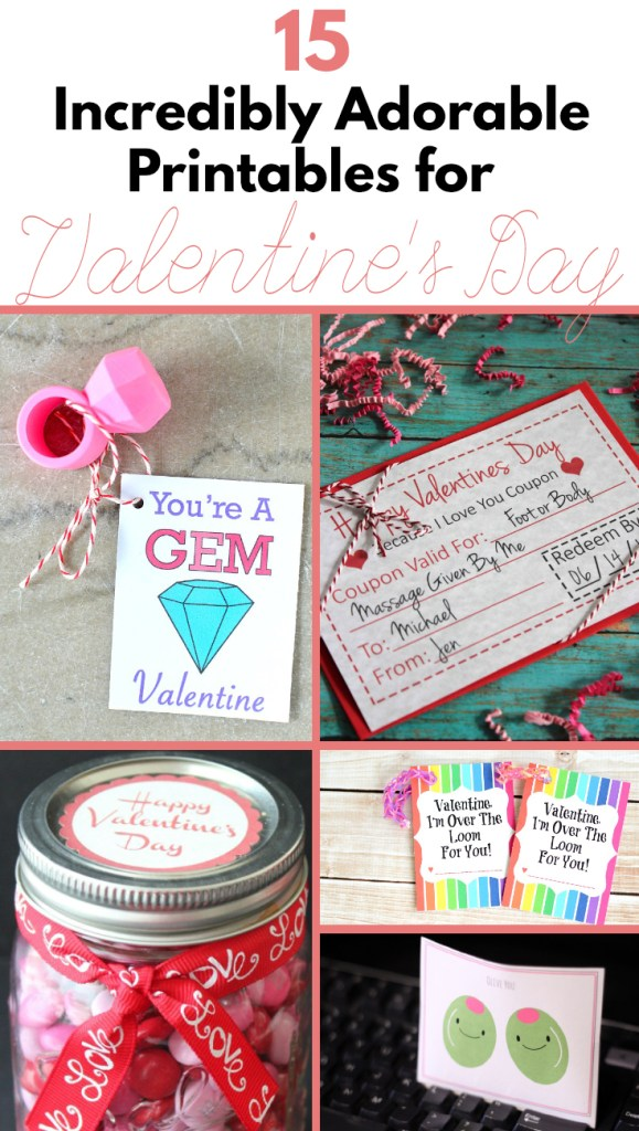 15 Valentines Printables for Kids