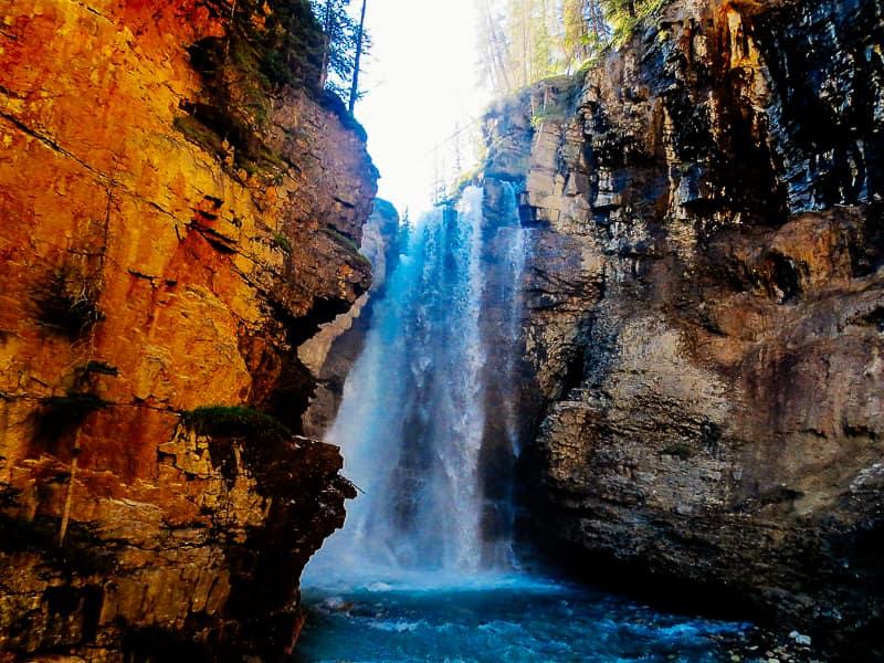 Johnston Canyon Trail Falls Banff National Park