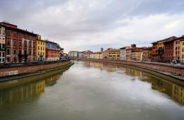 Pisa Italy Arno River