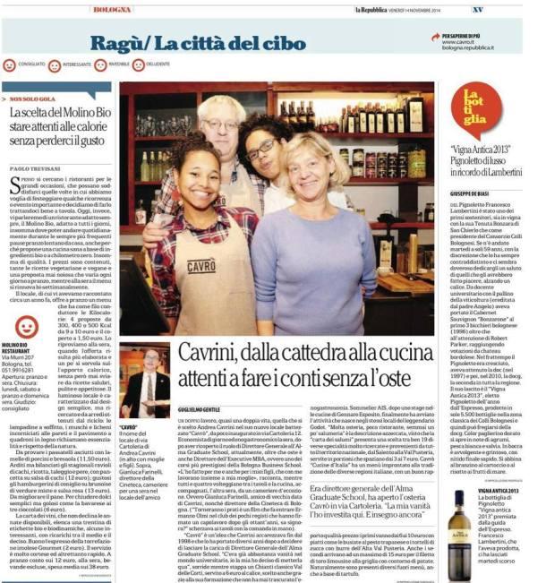 La Repubblica, Bologna 14/11/14