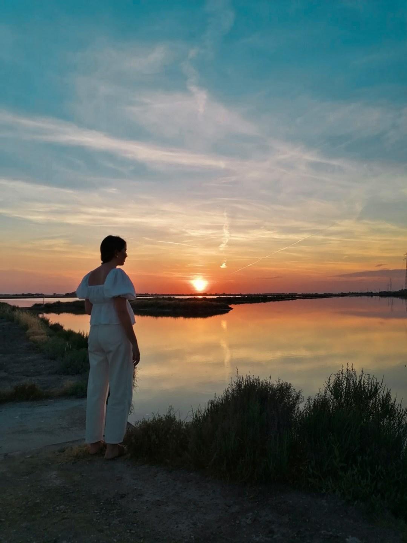 tramonto alle saline di Cervia