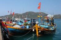 Fishermen boats at Ben Dam port
