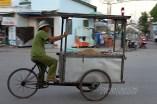 Street vendor on the move