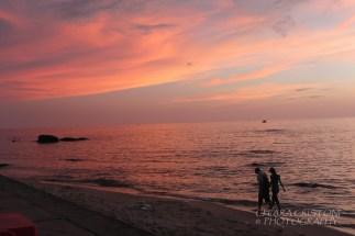 Sunset walk along the beach